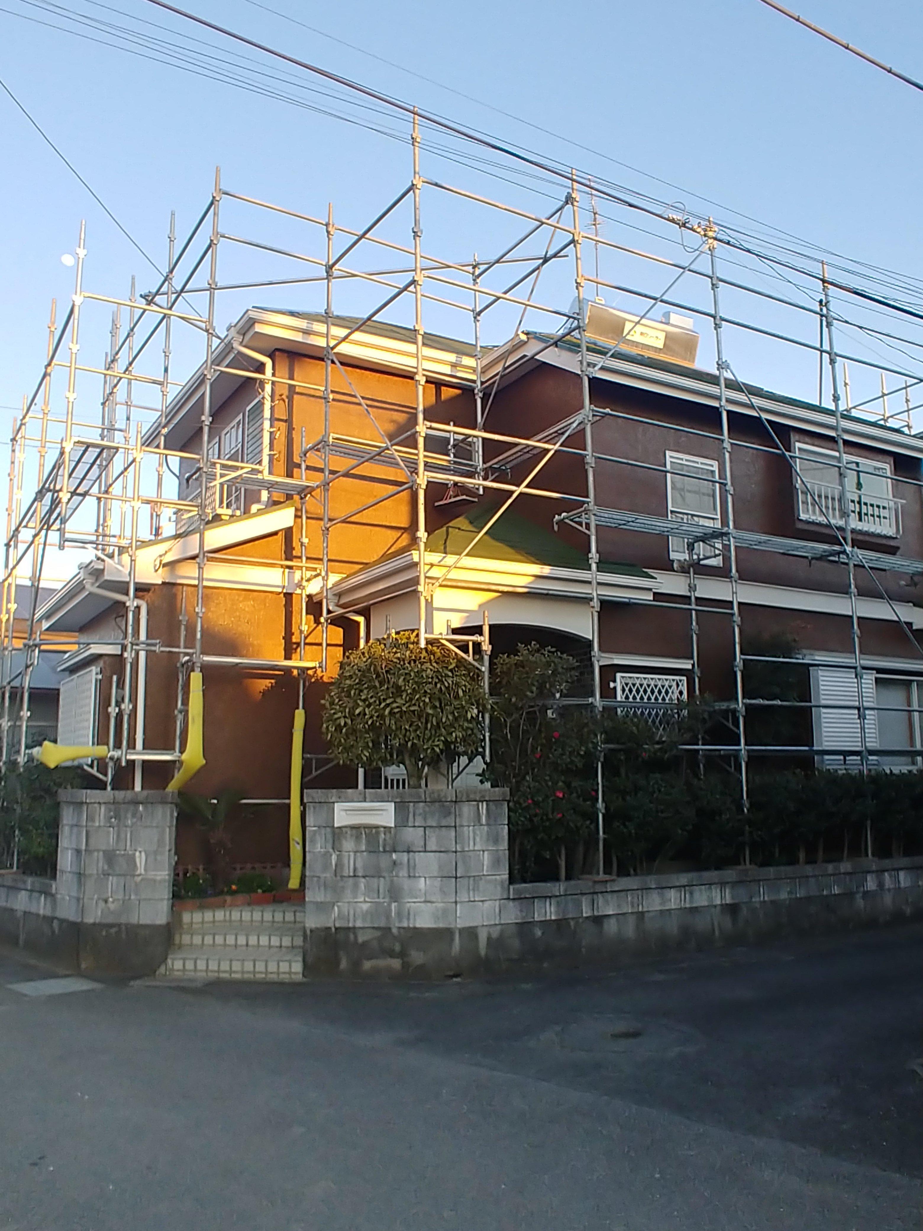 屋根 外壁 塗装工事 屋根2液型シリコン  壁 ラジカルシリコン