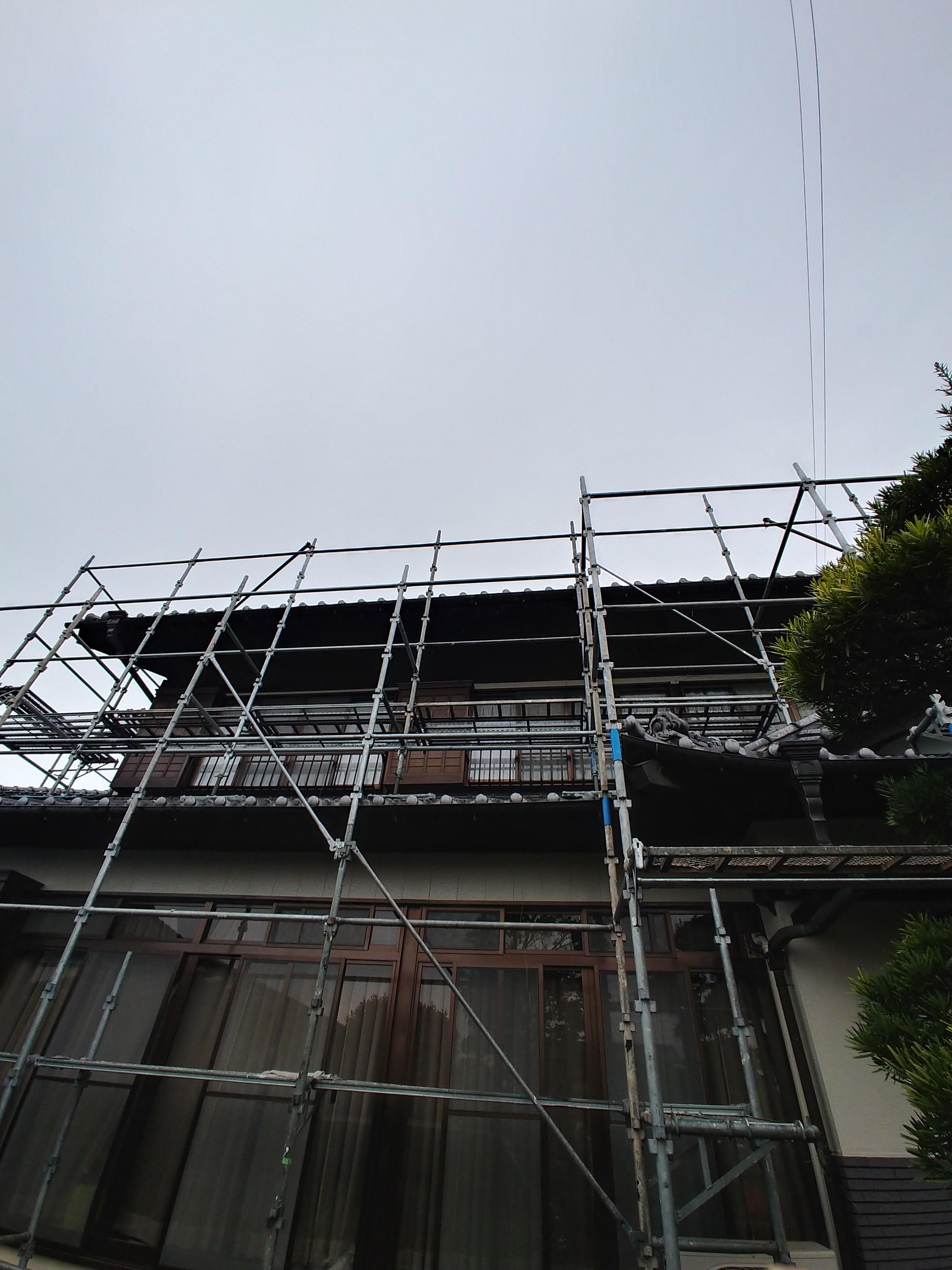 垂木、外壁塗装工事